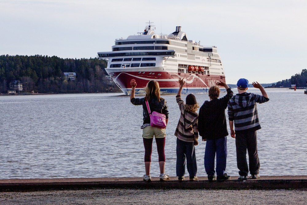 Viking Grace saapuu Turun satamaan